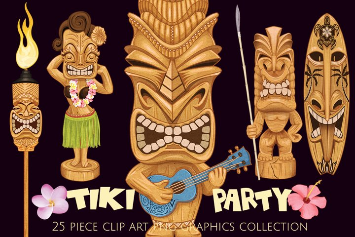 Tiki Party Illustrations Collection