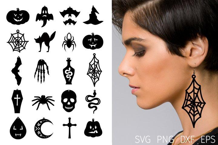 Earring svg. Halloween earrings faux leather. Earring bundle