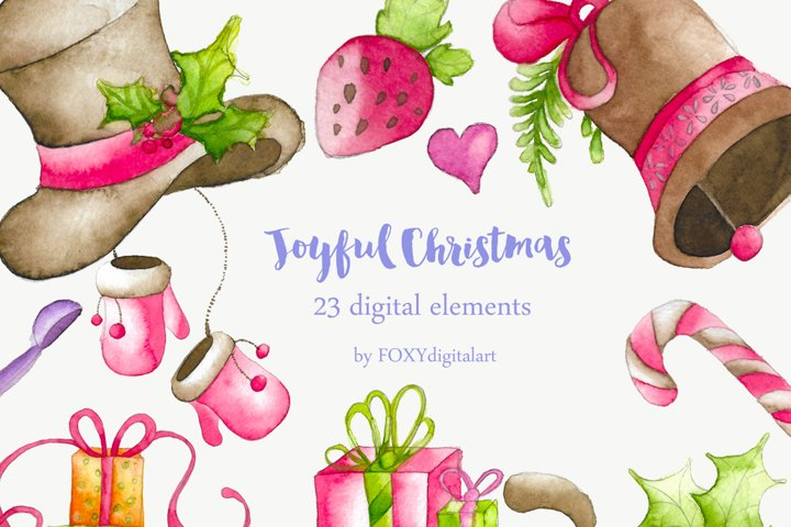 Watercolor Christmas Holiday Winter Clipart