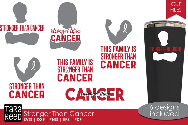 Stronger than Cancer - SVG and Cut Files for Crafters