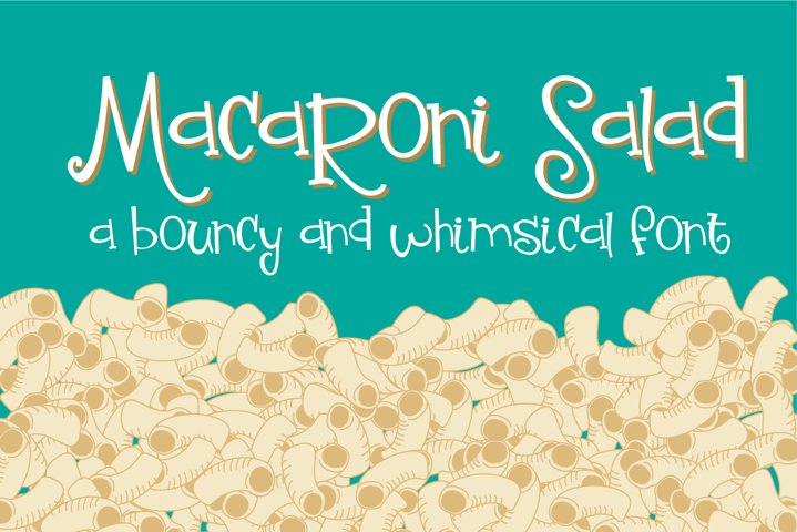 ZP Macaroni Salad - Free Font of The Week Font