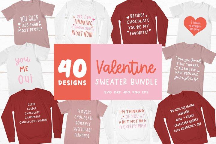 Valentine Shirt Bundle | Valentines Day Sweater Svg Bundle