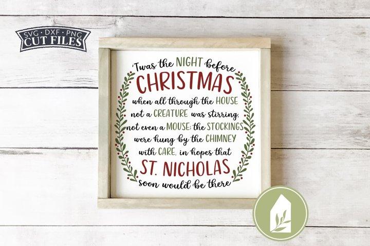 Twas the Night Before Christmas SVG, Farmhouse Christmas SVG