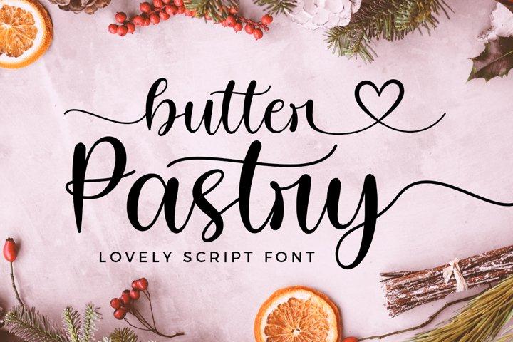 Butter Pastry Lovely Script Font
