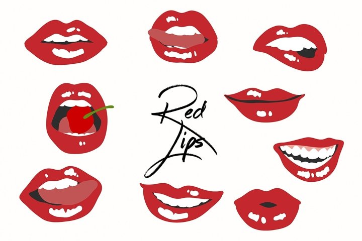 9 Red Hot Lips Graphics