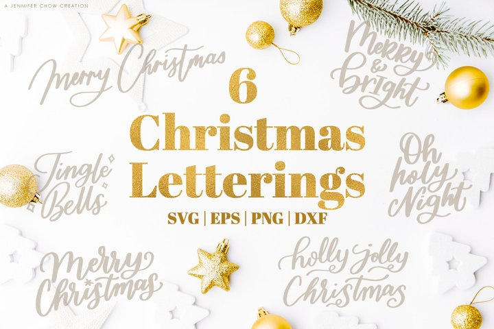 Christmas Letterings Quotes SVG