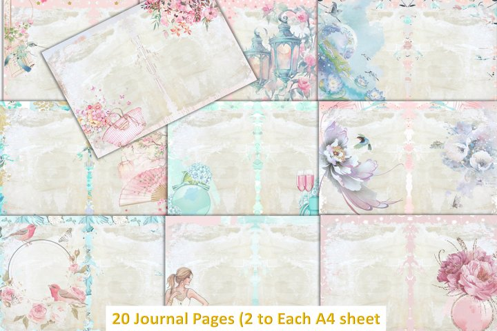 40 Page Journal Kit with Free Ephemera and Clipart.