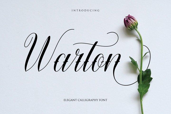 Warton - Elegant Calligraphy font
