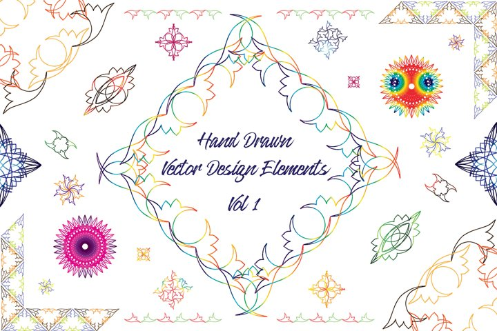 Hand Drawn Vector Design Elements_Volume 1