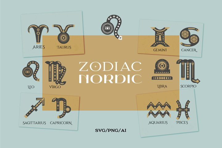 Zodiac signs. Astrology signs set