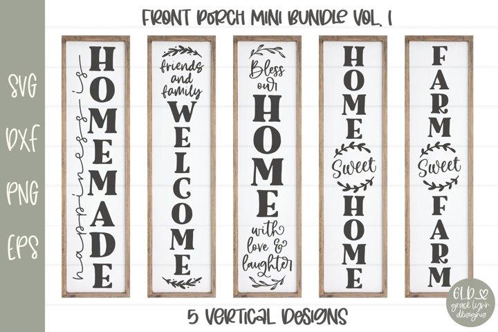 Porch Sign Mini Bundle VOL. 1 - 5 Vertical SVG Designs