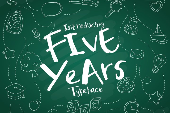 Five Years Typeface