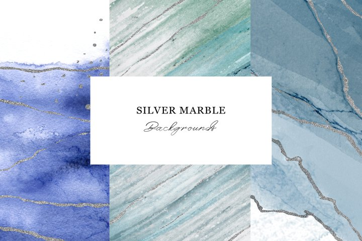 Silver watercolor background