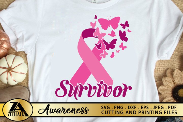 Breast Cancer SVG PNG EPS DXF Awareness SVG Pink Ribbon SVG