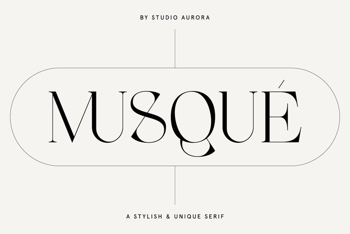 Musque Unique Elegant Display Font