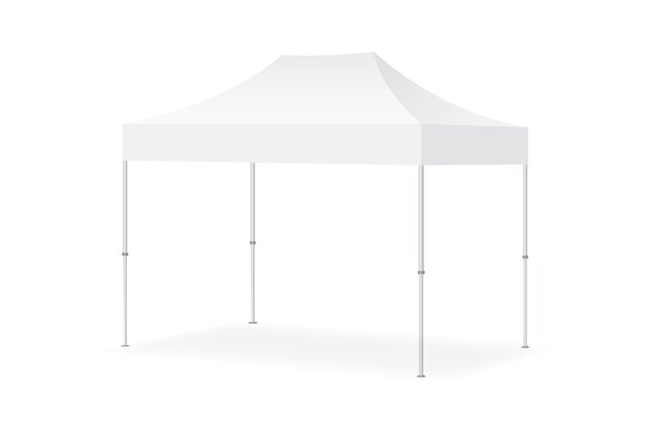 Blank outdoor marquee tent mock up isolated