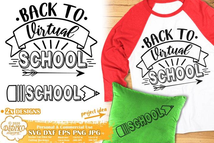 School SVG | Back to School SVG | Virtual School SVG