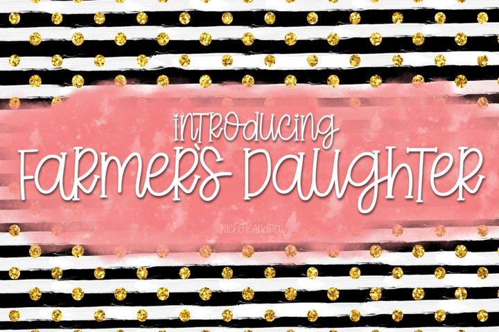 Farmers Daughter - A Handwritten Font
