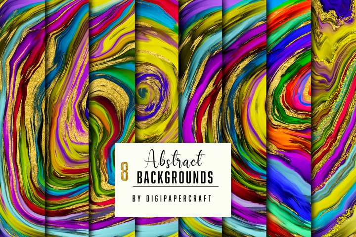 Abstract Background Digital Paper, Colorful marbling texture