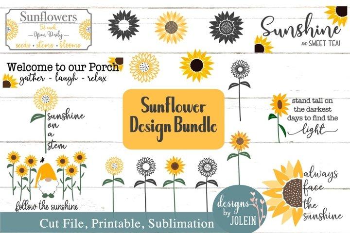 Sunflower Bundle SVG, Sublimation, Printable