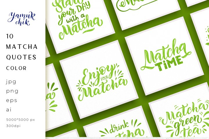 Bundle Matcha tea funny quotes sublimation, Matcha sayings