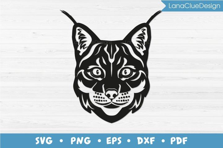 Lynx SVG Cut File - Bobcat - Wild Cat