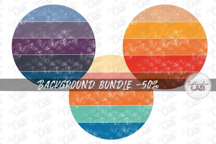 Retro Vintage Circle Bundle Sublimation Background Sunset