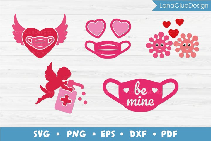 Quarantine Valentines Day - 5 items, SVG PNG DXF EPS PDF