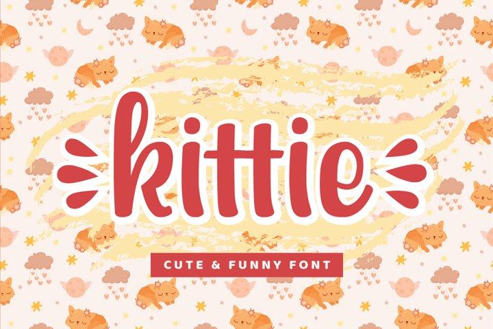 kittie - cute & funny font
