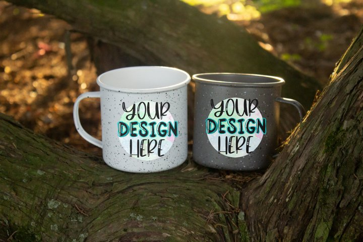 Two Camping Mugs Mock Up