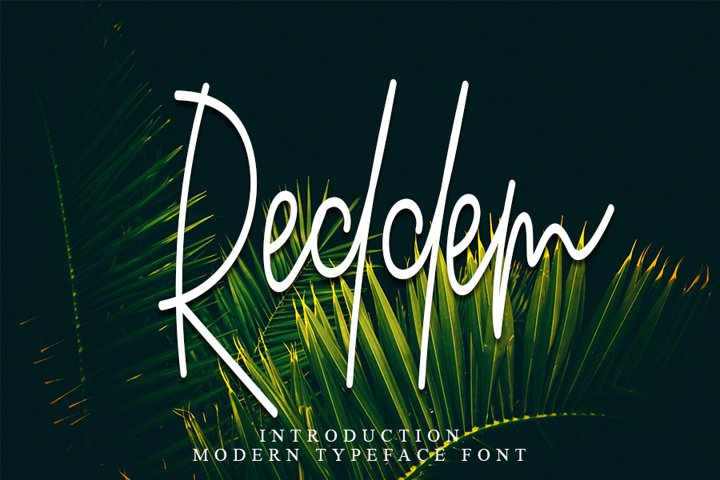 Reddem - Script Font