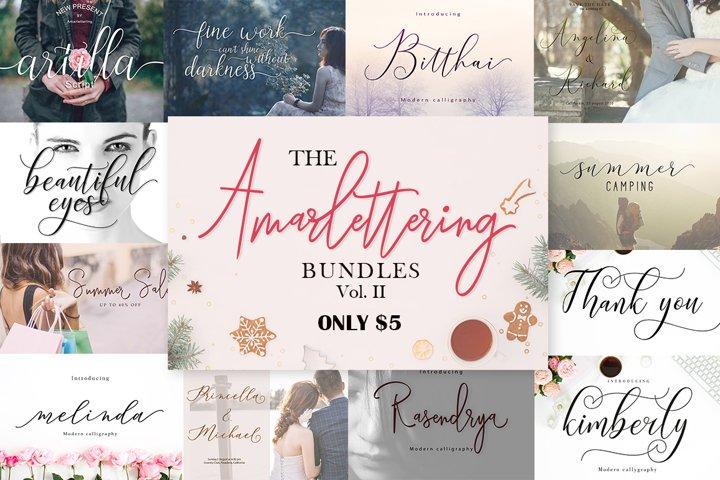 The Amarlettering Bundles Vol. II ONLY $5