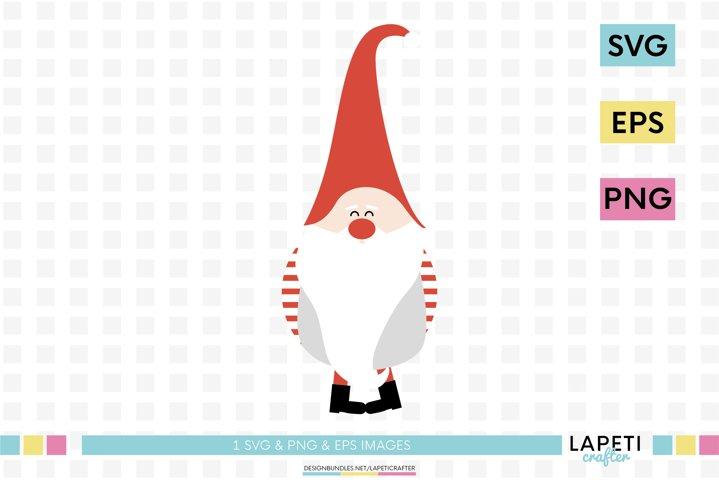 Christmas gnome svg, christmas clipart, scandinavian gnome
