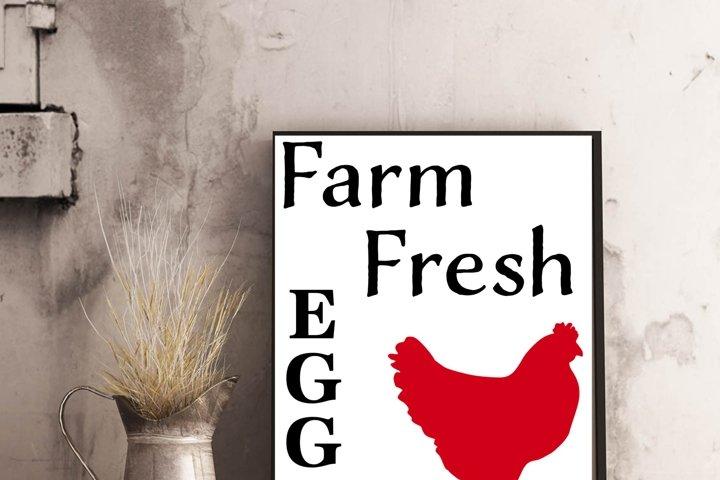 Farm fresh eggs with chicken