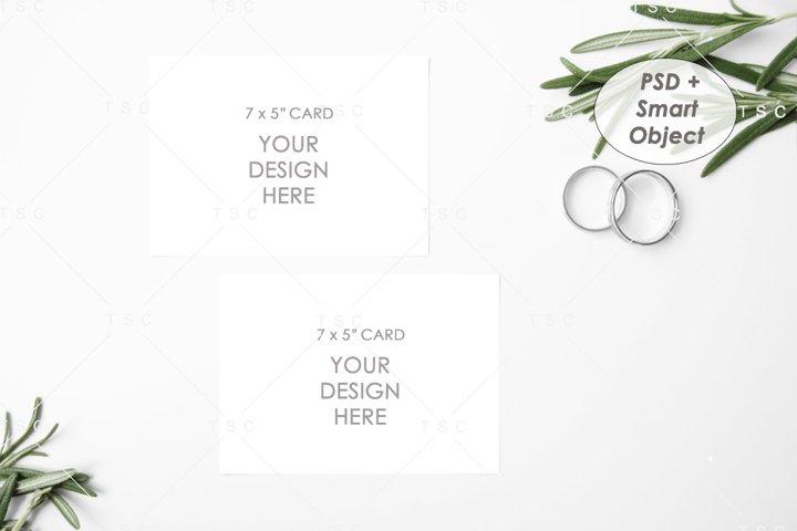 Wedding Suite Mockup - 7 x 5 Card