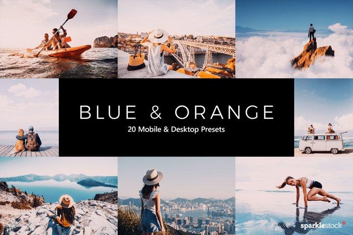 20 Blue and Orange Lightroom Presets & LUTs