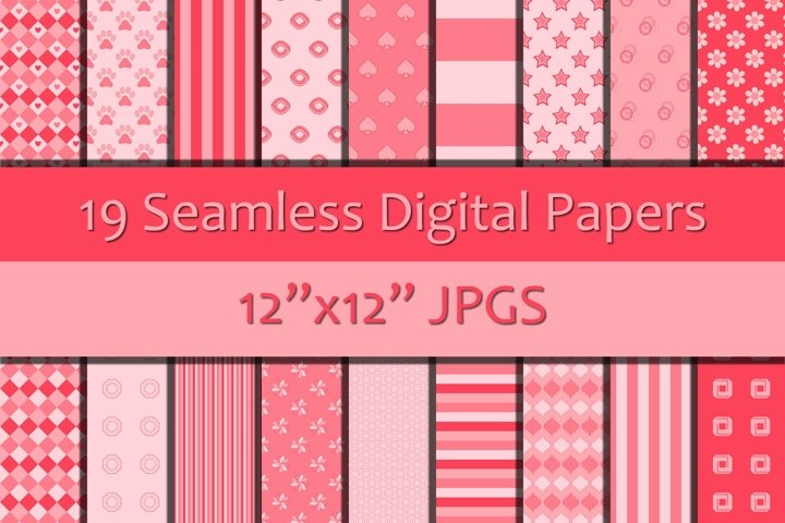 Shades of Pink Seamless Digital Papers/Backgrounds