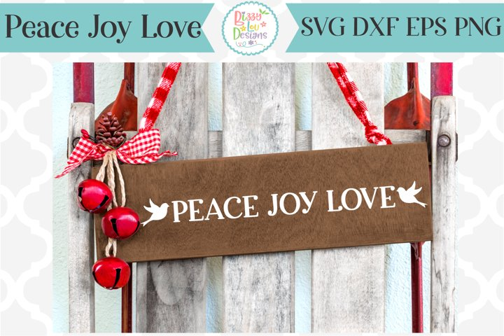 Peace Joy Love Christmas SVG