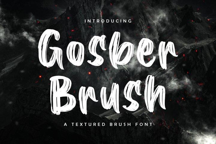 Gosber Brush Font