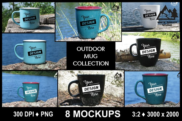 Outdoor Mug Mockup Bundle, Scenic Mockup with Mug, Drinkware