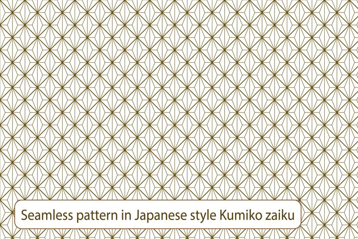 Seamless traditional Japanese ornament in style Kumiko.