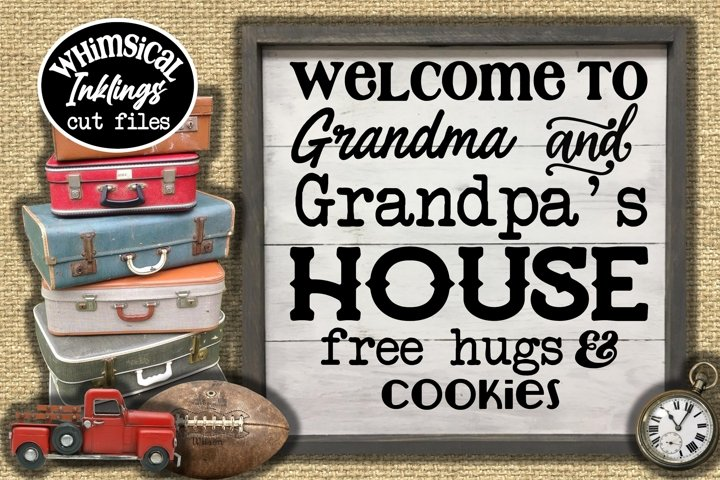 Grandma And Grandpas House SVG