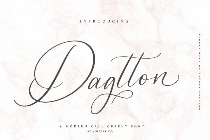 Dagtton - Wedding Calligraphy Font