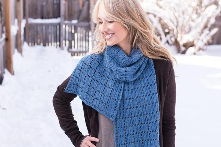 Square Squared Crochet Scarf Pattern