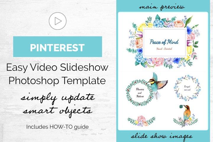 Easy Slideshow Maker - Pinterest Video - Photoshop Template