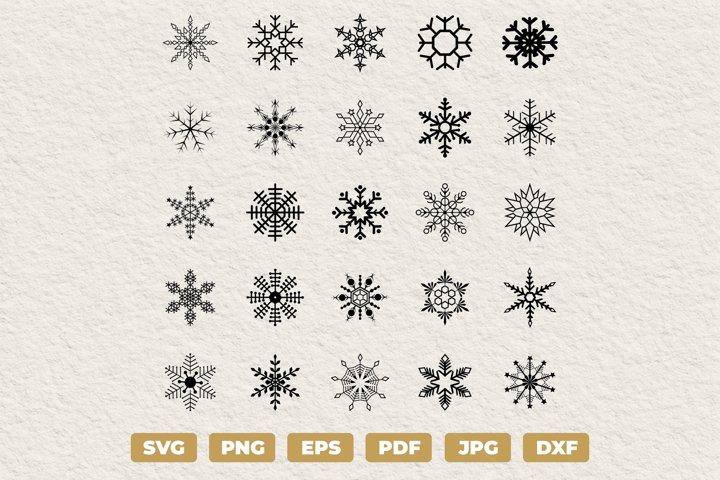 Snowflakes SVG Bundle