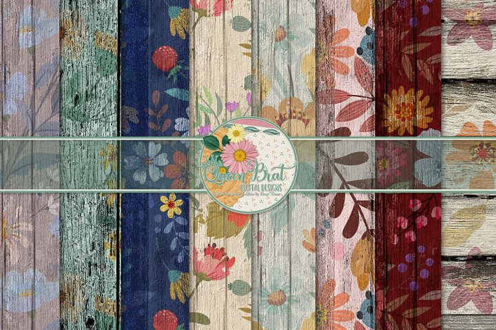 Floral Wood Papers 4