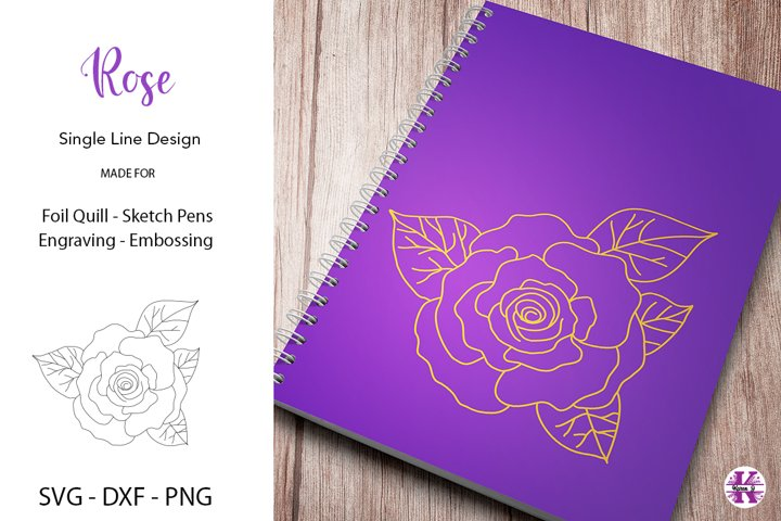 Rose SVG for Foil Quill-Engraving- For Crafters