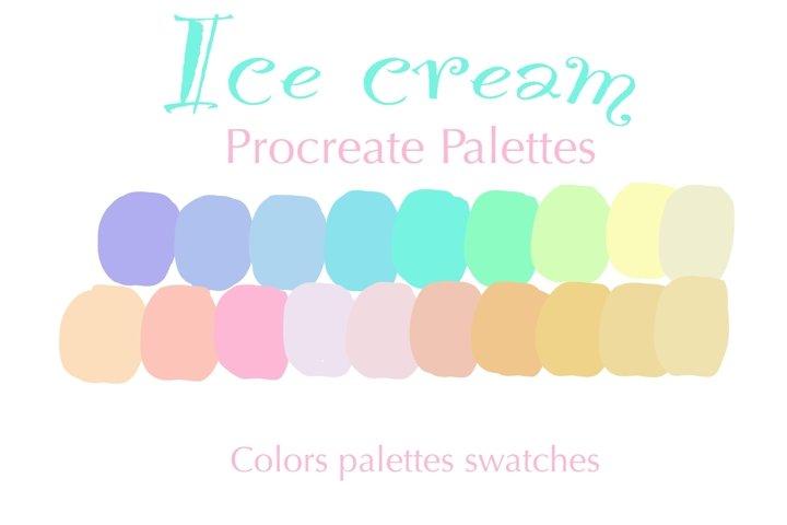 Ice cream procreate palettes colors