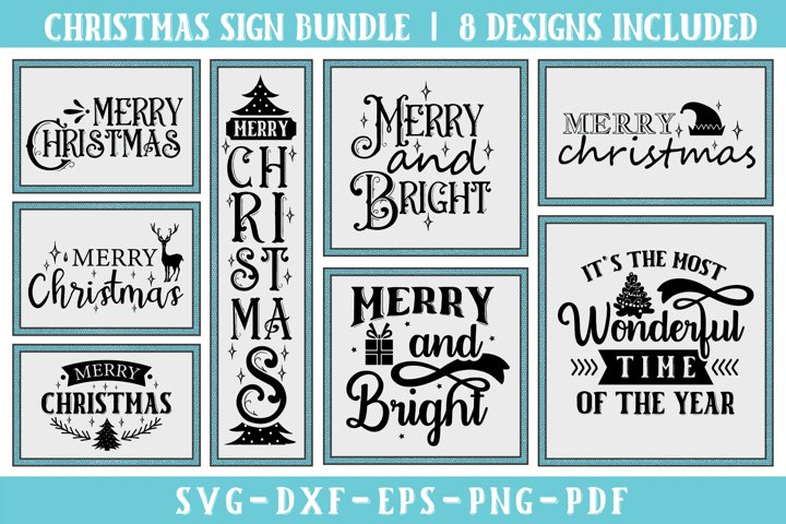 Merry Christmas SVG Bundle, Christmas Sign Bundle - Free Design of The Week Font